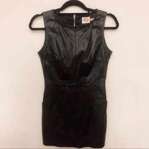 Juicy Couture Faux leather mini dress